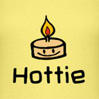 Hottie sexy cute candle t-shirt